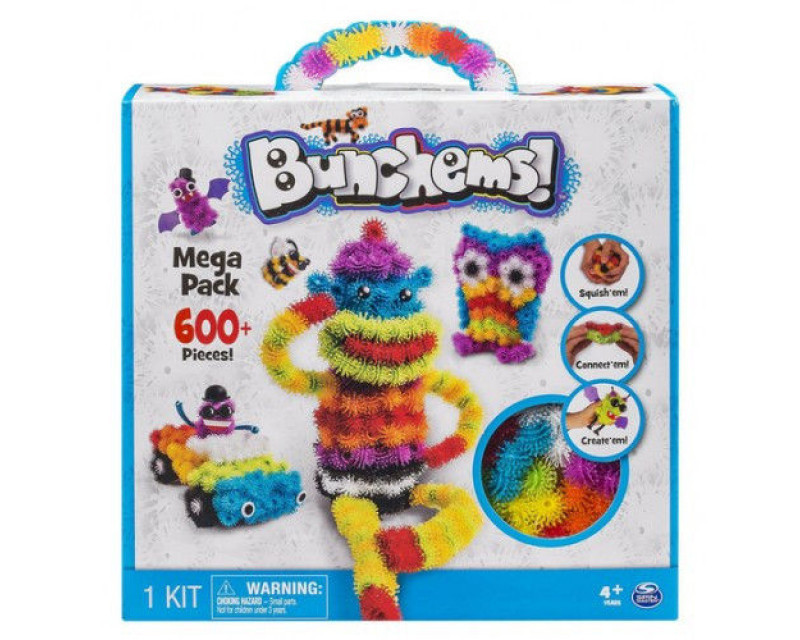Конструктор липучка Bunchems 600 деталей | Конструктор для детей Банчемс