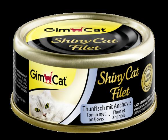 Консерви для кішок з тунцем і анчоусом GimCat ShinyCat Filet в бульйоні 70 г