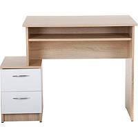 Стол письменный Ровер-Ресурс Софт 1010x600x750 мм белый/дуб сонома N80365317