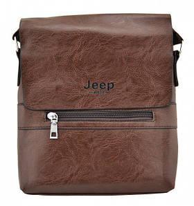 Мужская сумка Jeep Buluo 9008   Коричневая