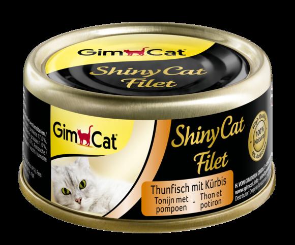 Консервы для кошек с тунцом и тыквой GimCat ShinyCat Filet в бульоне 70 г