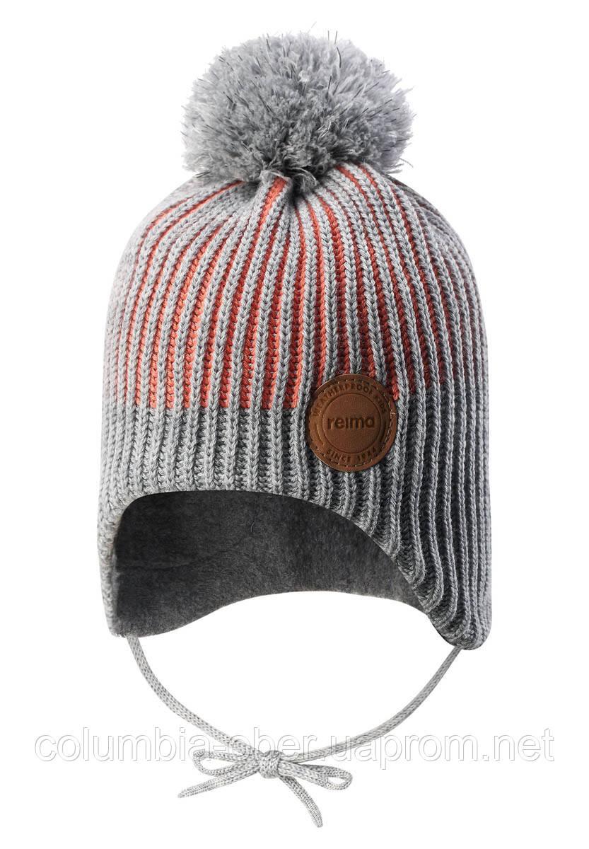 Зимняя шапка-бини для девочки Reima Weft 518536-3220. Размеры 46 - 52.