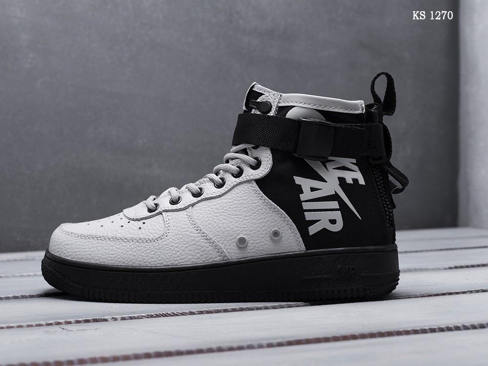 Чоловічі кросівки Nike SF Air Force 1 Mid (сірі)