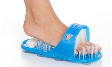 Масажні тапочки для душу з пемзою Simple Slippers | Масажер для ніг, фото 2