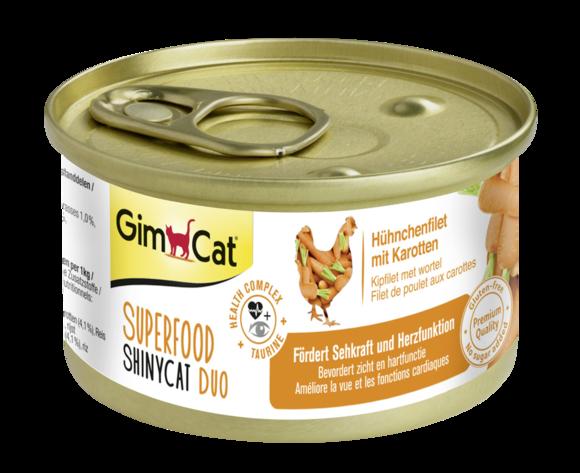 Консерви для кішок з куркою і морквою GimCat Superfood ShinyCat Duo 70 г