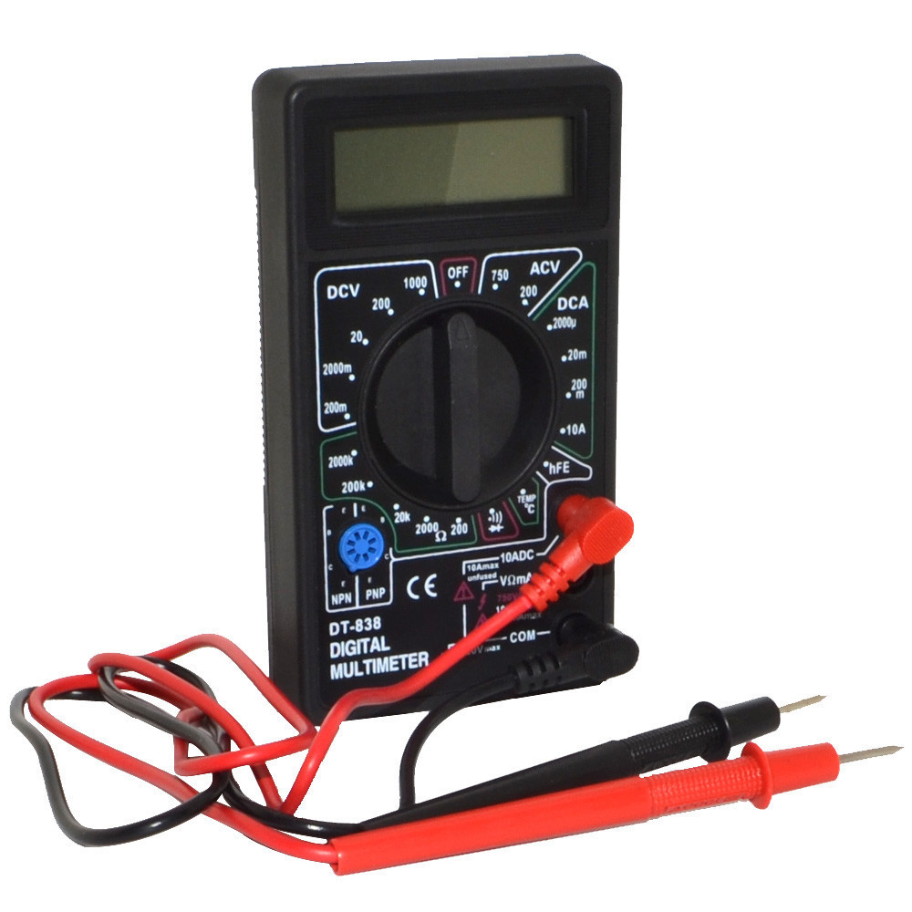 Мультиметр тестер амперметр вольтметр DT-838
