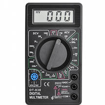 Мультиметр тестер амперметр вольтметр DT-838, фото 3