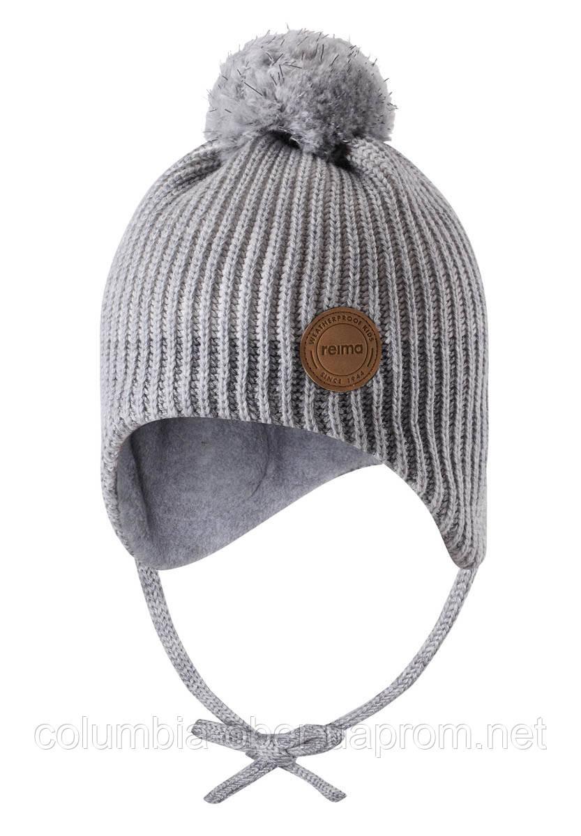 Зимняя шапка-бини для девочки Reima Weft 518536-0100. Размеры 46 - 52.