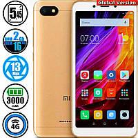 Смартфон Xiaomi Redmi 6A 2/16Gb Gold MIUI 10 (Сертифицирован в Украине UCRF) + Стекло в подарок