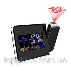 Настольные часы Kronos 8190 с проектором и метеостанцией, Black (LS1010053884)