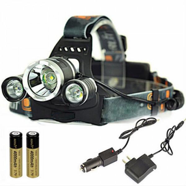 Акумуляторний ліхтар налобний RJ-3000