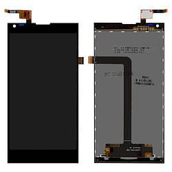 Дисплейный модуль (дисплей и сенсор) для Doogee DG550, черный, #FPC-BA251-00011-A/FPC55312A0-V2
