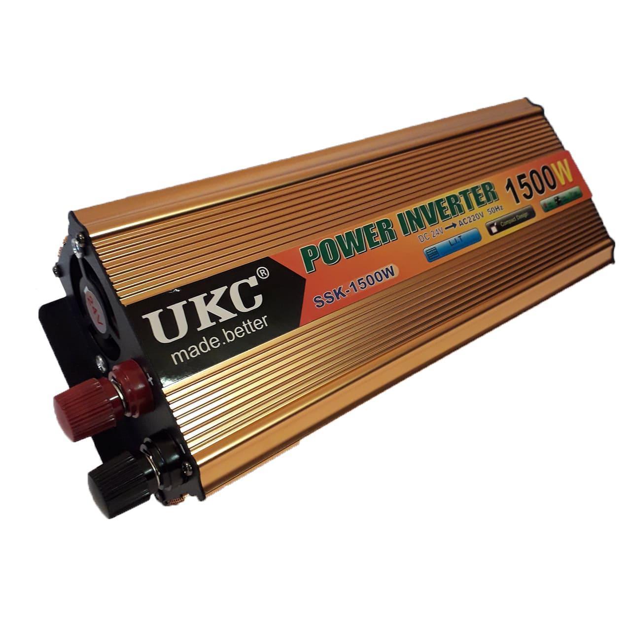 Інвертор автомобільний перетворювач напруги AC/DC SSK 1500W 24V