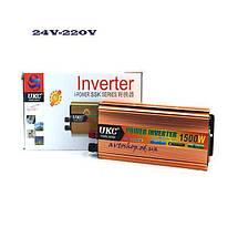 Інвертор автомобільний перетворювач напруги AC/DC SSK 1500W 24V, фото 3