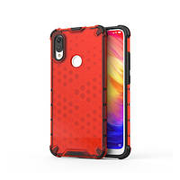 Накладка для Xiaomi Redmi 7 Transformer Honeycomb Red