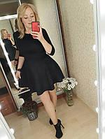 Замшевое платье черного цвета 42,44,46,48 р.
