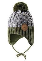Зимняя шапка-бини для мальчика Reima Pakkas 518537-8930. Размеры 46 - 52., фото 1