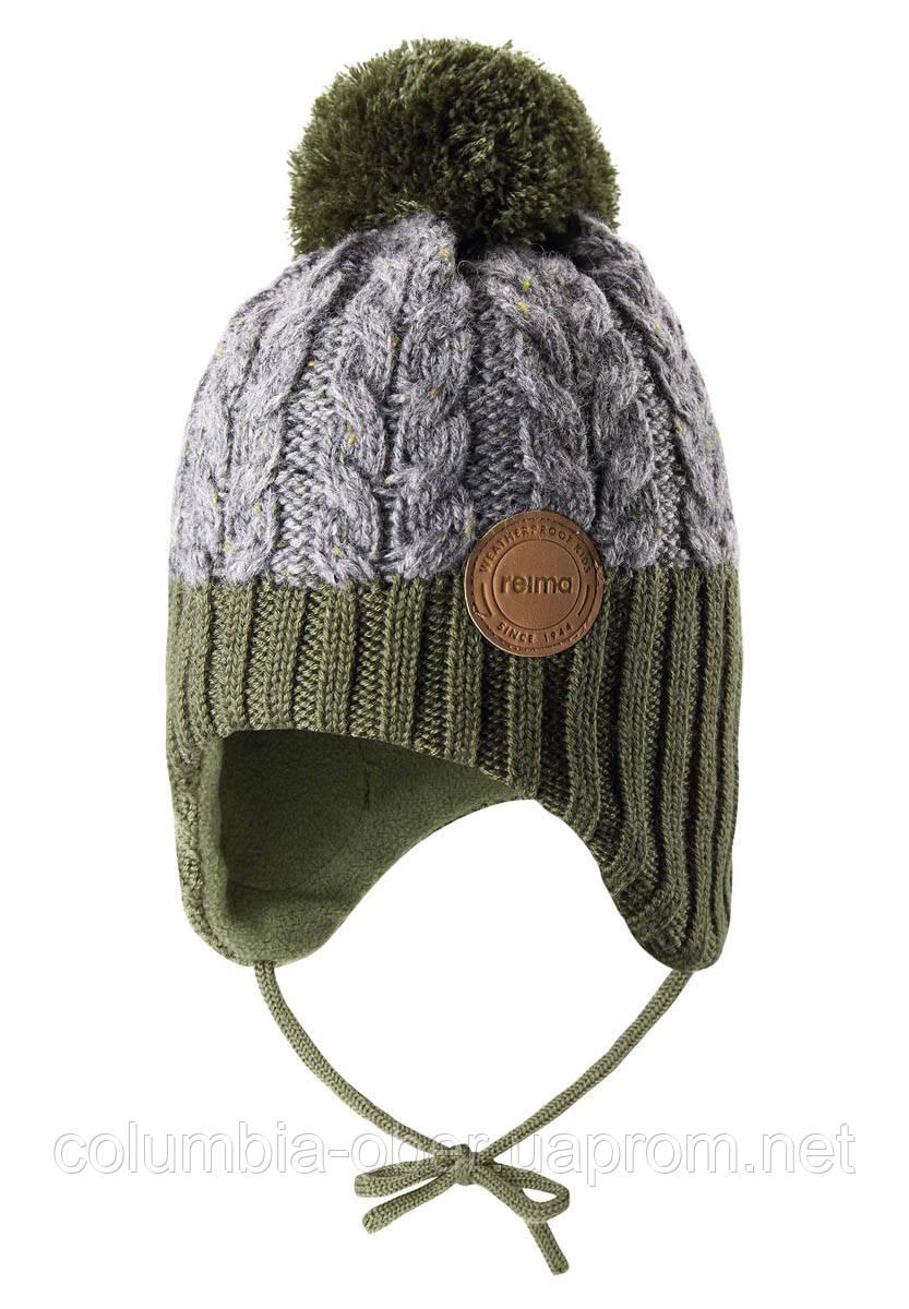 Зимняя шапка-бини для мальчика Reima Pakkas 518537-8930. Размеры 46 - 52.
