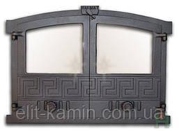 Чугунные дверцы со стеклом Halmat Grecia 3 (Н2003) (600x430)