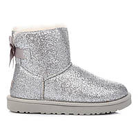UGG Astralia Mini Bailey Bow Sparkle Silver