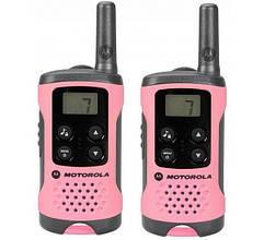 Рация Motorola TLKR T41, комплект 2шт. (PMR446, 0.5Вт), розовая
