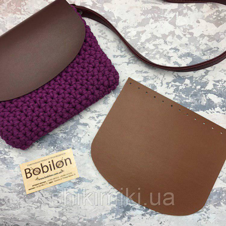 Крышка для сумки из эко-кожи (21*18), цвет коричневый