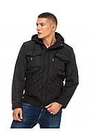Мужская куртка демисезонная стеганная 48-56 черная