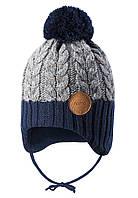Зимняя шапка-бини для мальчика Reima Pakkas 518537-6981. Размеры 46 - 52., фото 1