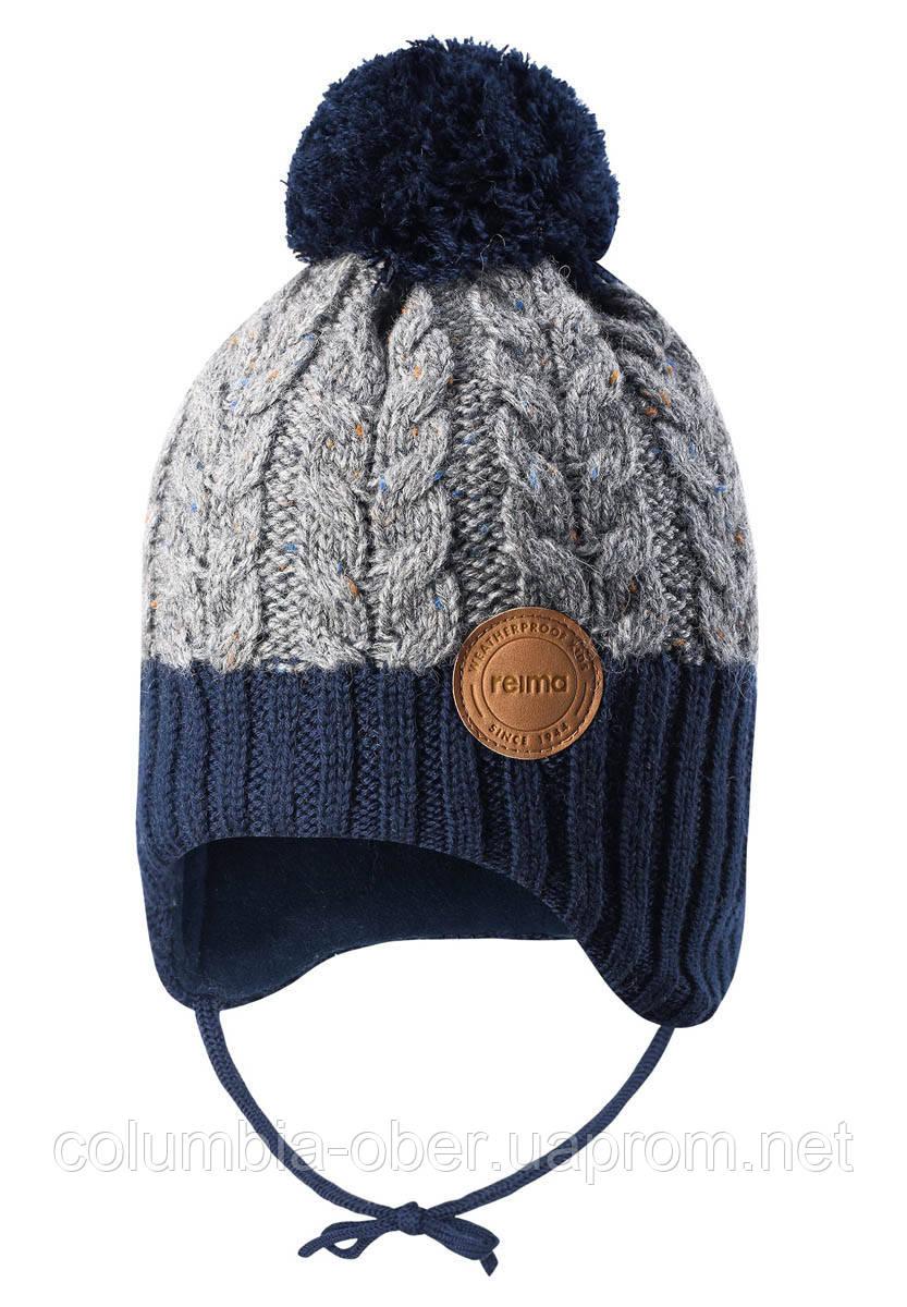 Зимняя шапка-бини для мальчика Reima Pakkas 518537-6981. Размеры 46 и 48.