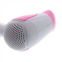 Фен для волос дорожный Gemei GM-1756 | Складной фен | Компактный фен, фото 2