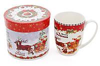 """Кружка фарфоровая """"С Рождеством!"""" в подарочной коробке, 375мл BonaDi 498-211"""