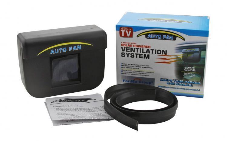 Автомобільний вентилятор Auto Cool-Fan на сонячній батареї