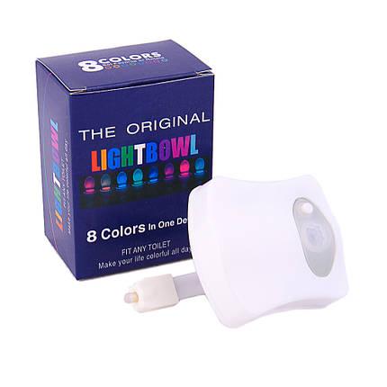 Підсвічування для унітазу з датчиком руху LED LightBowl 8 кольорів, фото 2