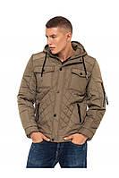 Мужская куртка демисезонная стеганная 48-56 хаки