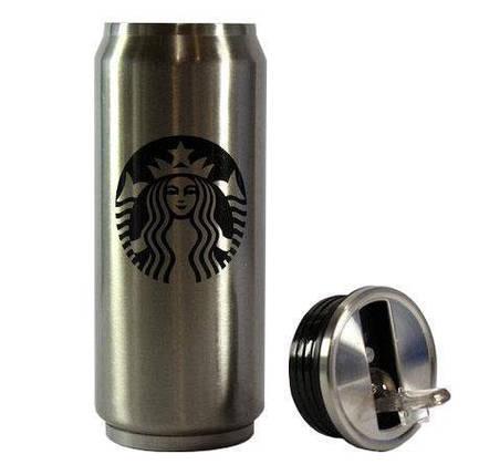 Термокружка металлическая для горячих и холодных напитков Starbucks PTKL-360, фото 2