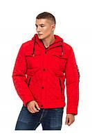 Мужская куртка демисезонная стеганная 48-56 красная