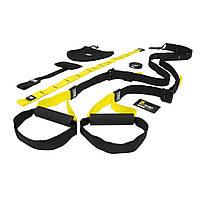 Тренувальні петлі TRX - Suspension Training (FitStudio) тренажер для тренувань (чорно-жовті)