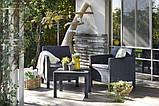 Набор садовой мебели Orlando Balcony Set Graphite ( графит ) из искусственного ротанга ( Allibert by Keter ), фото 3