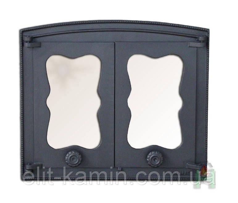 Печные дверцы со стеклом Halmat Н3503 (440x380)