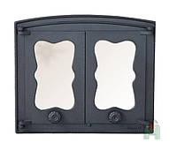 Печные дверцы со стеклом Н3503 (440x380), фото 1