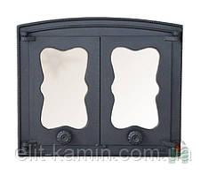 Печные дверцы со стеклом Н3503 (440x380)
