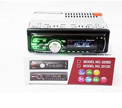 Автомобільна магнітола 1DIN MP3-3228D RGB/Знімна панель + пульт управління | Автомагнітола, фото 2