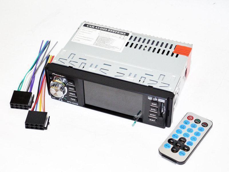 Автомобільна магнітола 1DIN MP5-4022BT RGB панель + пульт управління | Автомагнітола