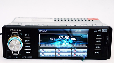Автомобільна магнітола 1DIN MP5-4022BT RGB панель + пульт управління | Автомагнітола, фото 2