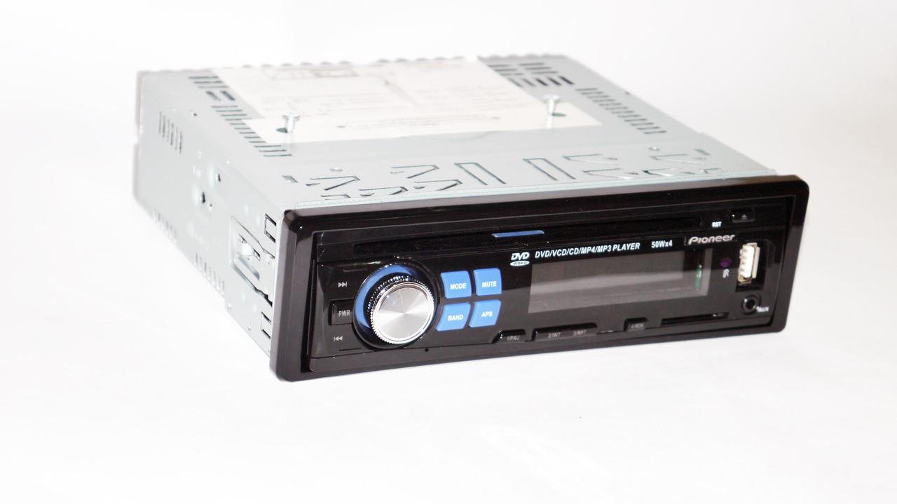 Автомобільна магнітола 1DIN DVD-1350 RGB панель + пульт управління | Автомагнітола