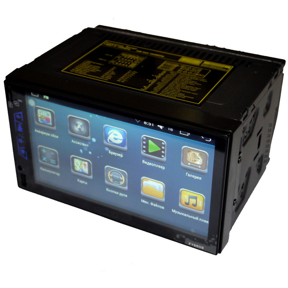 Автомобильная магнитола 2DIN 6509 Android GPS (без диска)    Автомагнитола