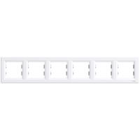 Рамка шестикратная белая ASFORA Schneider electric EPH5800621