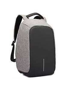 Рюкзак міський протикрадій Bobby Backpack | Сірий
