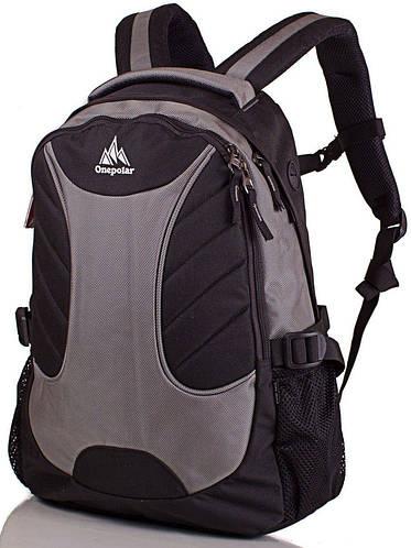 Оригинальный, универсальный рюкзак с отделением для ноутбука 20 л. ONEPOLAR (ВАНПОЛАР) W1307-grey серый