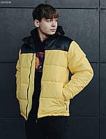 Мужская куртка зимняя короткая Staff  retro black and yellow